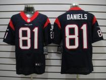 Nike Houston Texans -81 Owen Daniels Navy Blue Team Color Mens Stitched NFL Elite Jersey