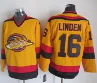 Vancouver Canucks -16 Trevor Linden Gold CCM Throwback Stitched NHL Jersey