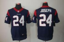 Nike Houston Texans -24 Johnathan Joseph Navy Blue Team Color Mens Stitched NFL Elite Jersey