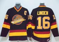 Vancouver Canucks -16 Trevor Linden Black CCM Throwback Stitched NHL Jersey