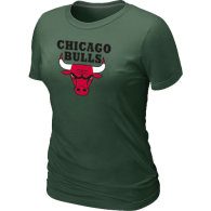 NBA Chicago Bulls Big Tall Primary Logo  Women T-Shirt (4)