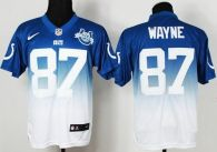 Nike Indianapolis Colts #87 Reggie Wayne Royal Blue White With 30TH Seasons Patch Men's Stitched NFL