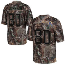 Nike Houston Texans -80 Andre Johnson Camo With Hall of Fame 50th Patch Mens Stitched NFL Realtree E