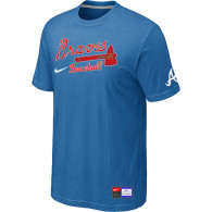Atlanta Braves light Blue Nike Short Sleeve Practice T-Shirt