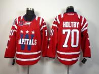 Washington Capitals -70 Braden Holtby 2015 Winter Classic Red 40th Anniversary Stitched NHL Jersey