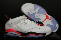 "Air Jordan 6 Low ""White/Infrared"" Super Max Perfect"
