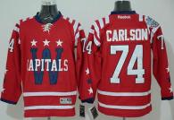 Washington Capitals -74 John Carlson 2015 Winter Classic Red Stitched NHL Jersey