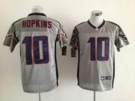 Nike Houston Texans #10 DeAndre Hopkins Grey Shadow Men's Stitched NFL Elite Jersey