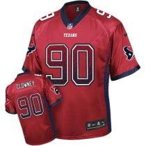 Nike Houston Texans -90 Jadeveon Clowney Red Alternate Mens Stitched NFL Elite Drift Fashion Jersey