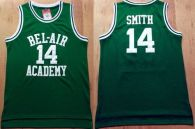 Bel-Air Academy -14 Smith Green Stitched Basketball Jersey