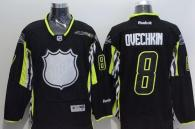 Washington Capitals -8 Alex Ovechkin Black 2015 All Star Stitched NHL Jersey