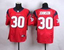 Nike Houston Texans -30 Kevin Johnson Red Alternate Mens Stitched NFL Elite Jersey