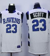 One Tree Hill Ravens -23 Nathan Scott White Stitched Basketball Jersey