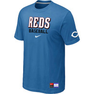 Cincinnati Reds light Blue Nike Short Sleeve Practice T-Shirt