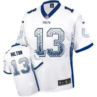 Nike Indianapolis Colts #13 TY Hilton White Men's Stitched NFL Elite Drift Fashion Jersey