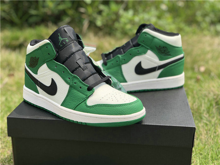 "d07130297b05c9 US  130 - Authentic Air Jordan 1 Mid SE ""Pine Green"" - www.yeskicks.cn"