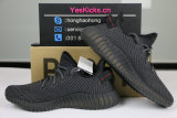 Authentic Y 350 V2 ALL Black(only lace reflective)