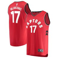 Men's Toronto Raptors Jonas Valanciunas  Red Fast Break Player Jersey  - Icon Edition
