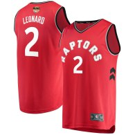 Men's Toronto Raptors Kawhi Leonard  Red 2019 NBA Finals Jersey - Icon Edition