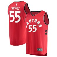 Men's Toronto Raptors Delon Wright Red Fast Break Player Jersey - Icon Edition