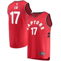 Men's Toronto Raptors Jeremy Lin Fanatics Branded Red Fast Break Replica Jersey – Icon Edition