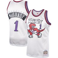 Tracy McGrady Toronto Raptors Mitchell & Ness Hardwood Classics Platinum Swingman Jersey