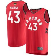 Men's Toronto Raptors Pascal Siakam  Red 2019 NBA Finals Jersey - Icon Edition