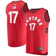 Men's Toronto Raptors Jeremy Lin Red 2019 NBA Finals Jersey - Icon Edition