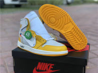 Authentic OFF White X Air Jordan 1 Yellow White