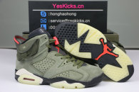 "Authentic Travis Scott x Air Jordan 6 ""Medium Olive"""