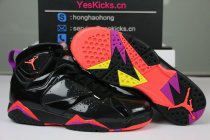 "Authentic Air Jordan 7 WMNS ""Black Patent Leather"""