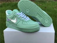 Authentic Off-White x Nike Air Force 1 Low Green-Silver