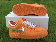 Authentic Off-White x Nike Air Force 1 Low Orange-Silver