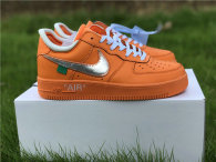 Authentic Off-White x Nike Air Force 1 Low Orange-Silver GS