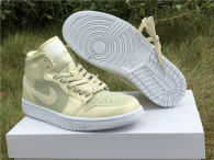 Authentic Air Jordan 1 Lemon Yellow-White