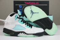 "Authentic Air Jordan 5 ""Island Green"""