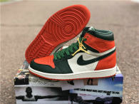 Authentic SoleFly x Air Jordan 1 Retro High OG Sail/Team Orange-Fir