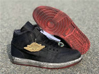 "Authentic CLOT x Air Jordan 1 Mid ""Fearless"" Black"