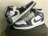 Authentic Air Jordan 1 Mid White/Obsidian
