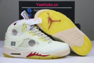 Authentic Off-White x Air Jordan 5 Retro  Sail