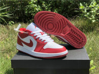 Authentic Air Jordan 1 Low White/Red GS