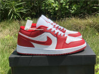 Authentic Air Jordan 1 Low White/Red