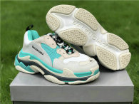 Balenciaga Triple-S NUBUC MINT GREEN