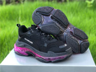 Balenciaga Triple-S Net Black Plum Red