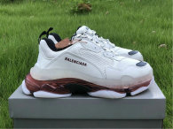 Balenciaga Triple-S Nubuc White/Rose Gold Air Cushion