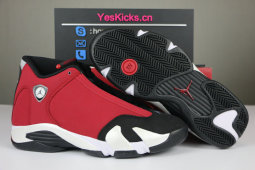 "Authentic Air Jordan 14 ""Gym Red"""