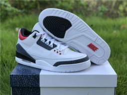 "Authentic Air Jordan 3 SE Denim ""Fire Red"""