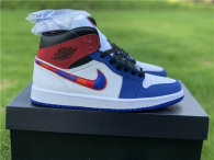 Authentic Air Jordan 1 Mid Red/White/Blue