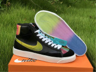 Authentic Nike Blazer Mid '77 Vintage Black/Bright Cactus-Hyper Pink