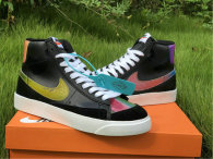 Authentic Nike Blazer Mid '77 Vintage Black/Bright Cactus-Hyper Pink GS